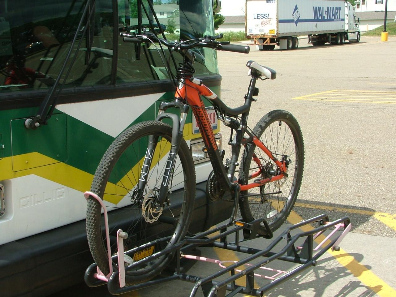 PARTA bus bike racks