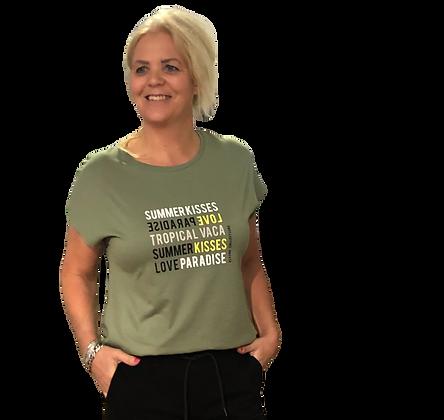 T-shirt Elvira Green Yellow