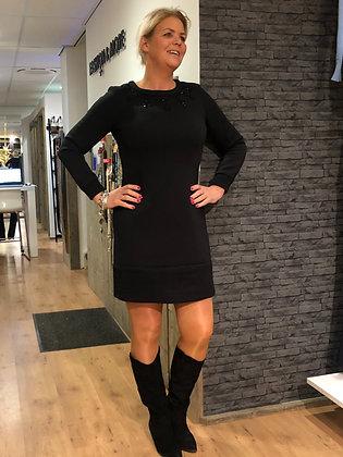 Jurk K-Design Zwart Jogsstof