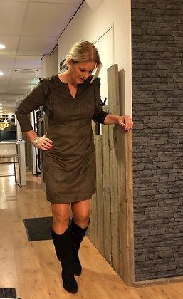 Jurk K-Design Suedine Khaki