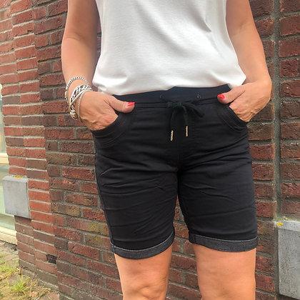 Broek Place du Jour Kort JogJeans Zwart