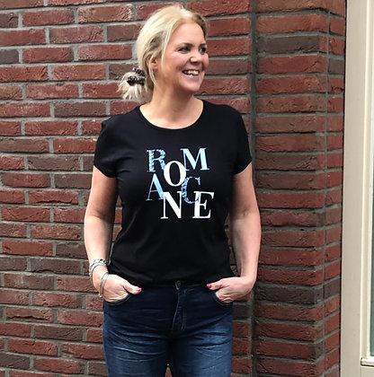 T-Shirt Elvira Zwart Romance