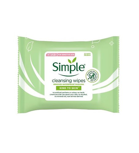 Simple Kind to Skin Cleansing Wipes x25
