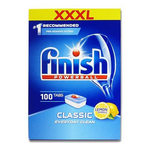 Finish Powerball Lemon Sparkle Dishwasher Capsules x100