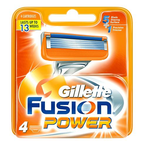 Gillette Fusion Power Cartridge Blades (4 Pack)