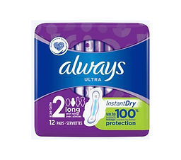 Always Ultra Long with Wings Sanitary Towels x12