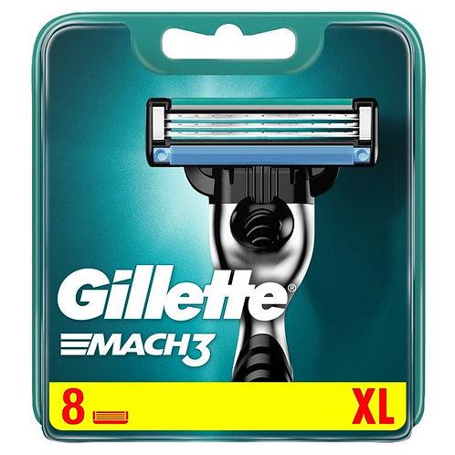 Gillette Mach 3 Cartridge Blades (8 Pack)