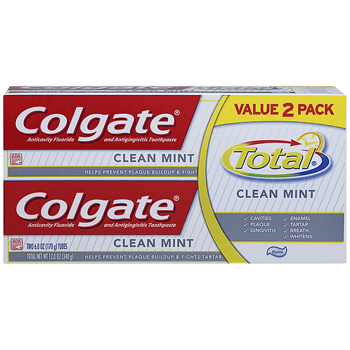 Colgate Total Clean Mint Duo Pack Toothpaste 2x100ml