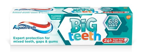 Aquafresh Kids Big Teeth (6-8 Years) Toothpaste 50ml