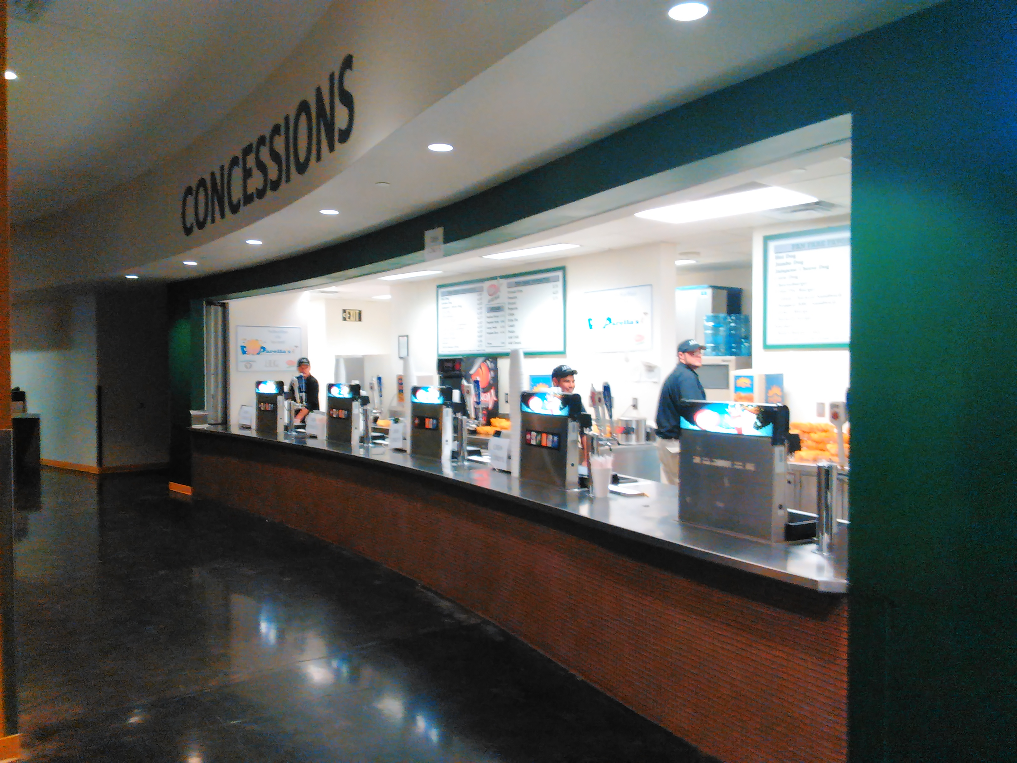 Concessions at Dr. Pepper Arena
