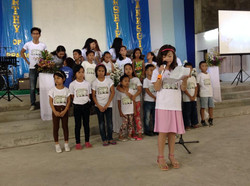 Sauders leading children's camp
