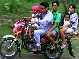 family motorcycle ride