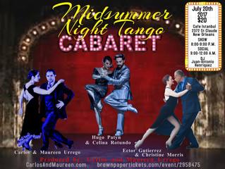 JULY 20: Midsummer Night Tango Cabaret