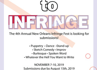 CALL FOR ARTISTS: Infringe Festival