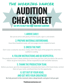 The Do's and Don'ts of Dance Auditions