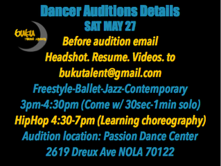 Buku Talent Auditions