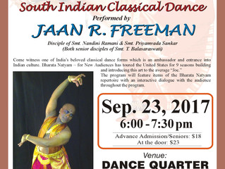 South Indian Classical Dance performed by Jaan R. Freeman
