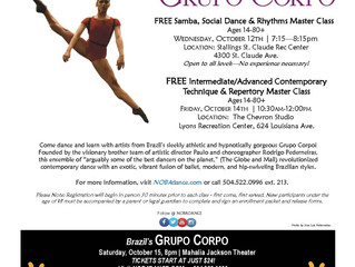 FREE Grupo Corpo Master Classes