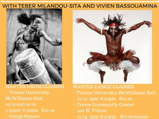 Traditional Congolese Dance and Drum with Teber Milandou-sita and Vivien Bassoumina