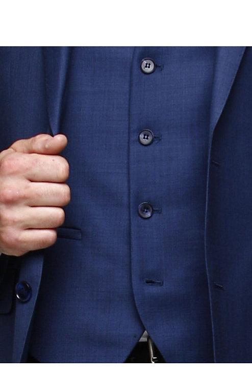 D3 Sharkskin Hi-Fash Blue waistcoat