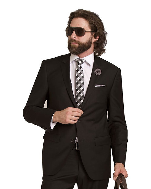 D9 Black Travel Suit jacket