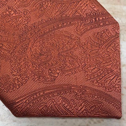 Burnt Orange Self Paisley