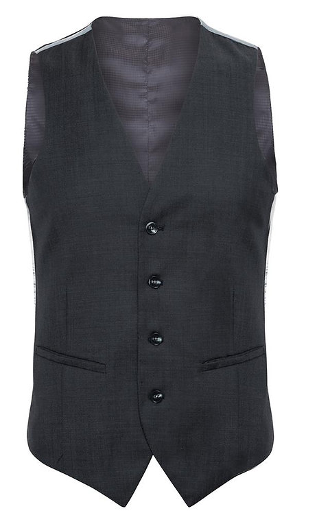 C1 Charcoal Luxury Pin Dot waistcoat