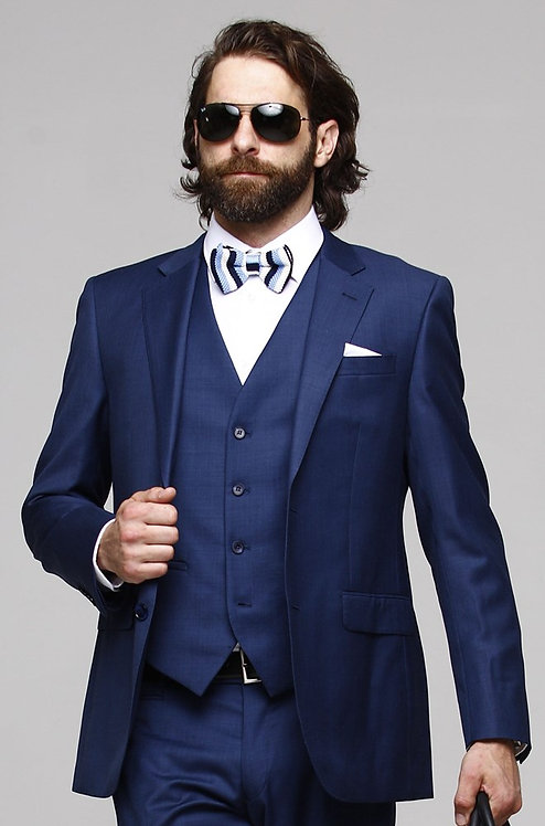 D3 Sharkskin Hi-Fash Blue Jacket