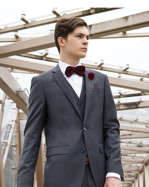 D8 Grey Travel Suit waistcoat