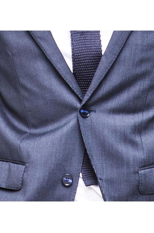 C10 Navy Fine Lines waistcoat