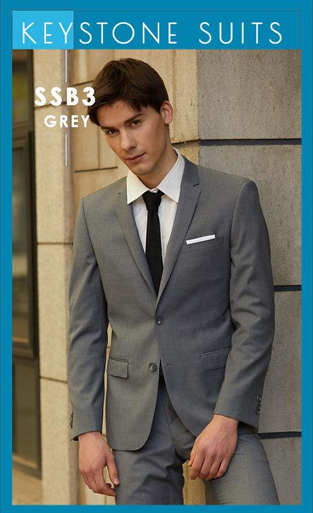 Bruton SSB3 Grey Slimfit Jacket