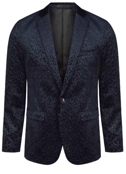 125852J Mens Velvet Floral Jacket