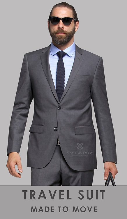 D8 Grey Travel Suit trousers