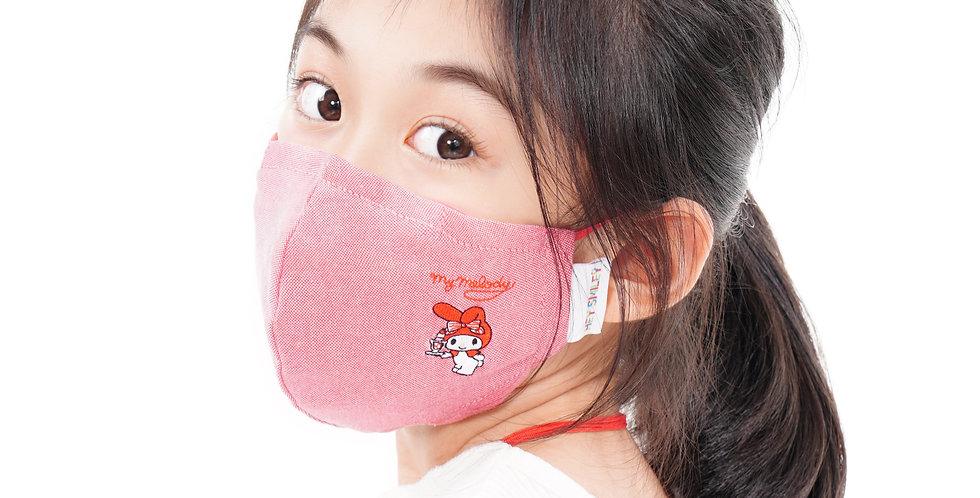 My Melody (紅色)牛津紡口罩連索繩袋套裝 (成人及中童尺寸)