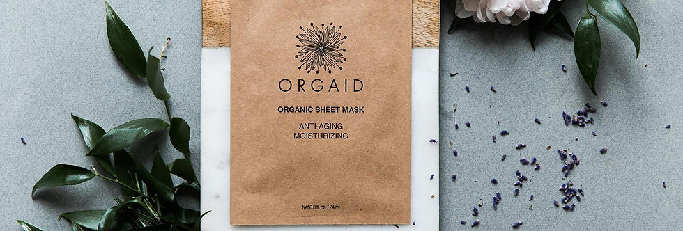 Orgaid 有機抗老保濕面膜 Anti-aging (Moisturizing)1盒4片