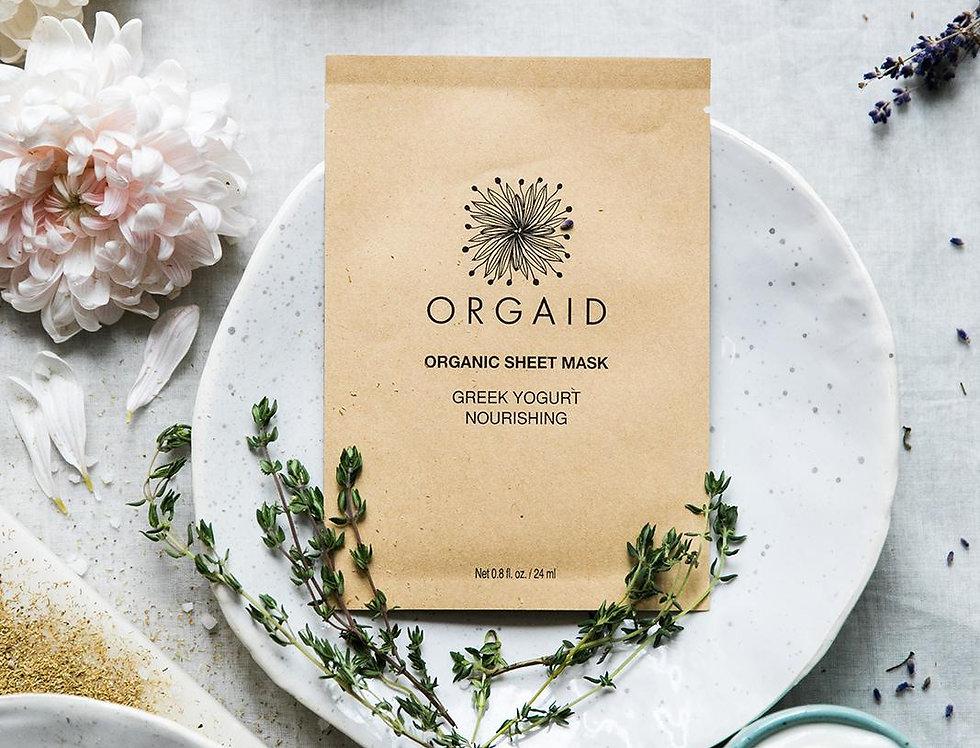 Orgaid 有機希臘乳酪營養面膜 Greek Yogurt(Nourishing) 1盒4片