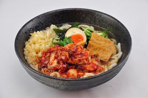 Spicy Kimchi Pork Belly Udon