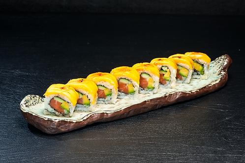 Sweet Aburi Salmon & Mango Roll