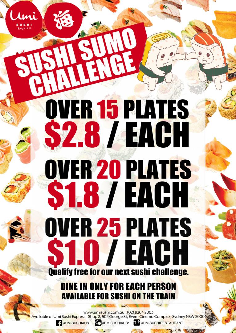 Umi Sushi Express Sushi Sumo Challenge