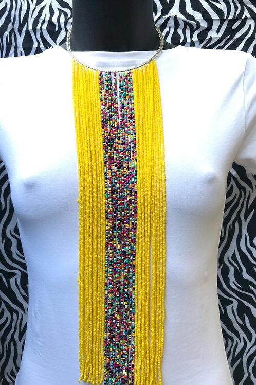 Yellow/Multi Waterfall Necklace