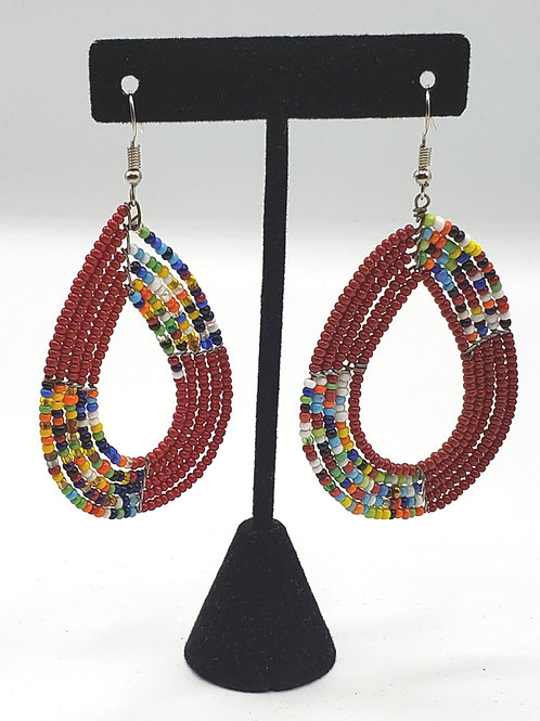 Burgundy/Masaai Earrings