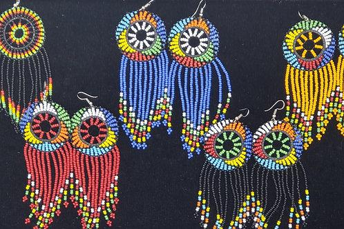 Dream Catcher Beaded Earrings