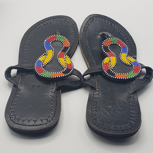 Masaai Beaded Leather Sandals