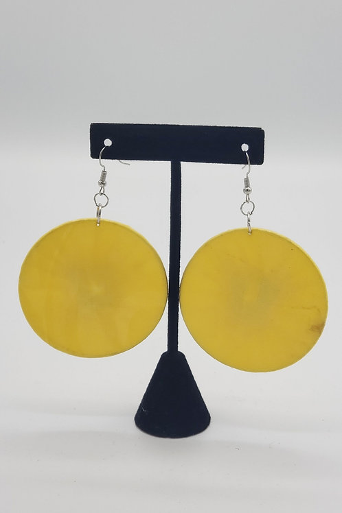 Yellow Ankara Earrings