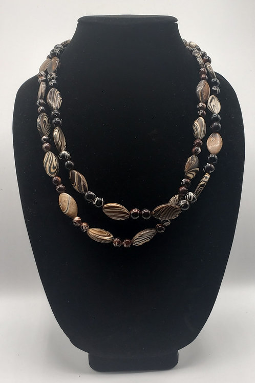 Chocolate Swirl Necklace