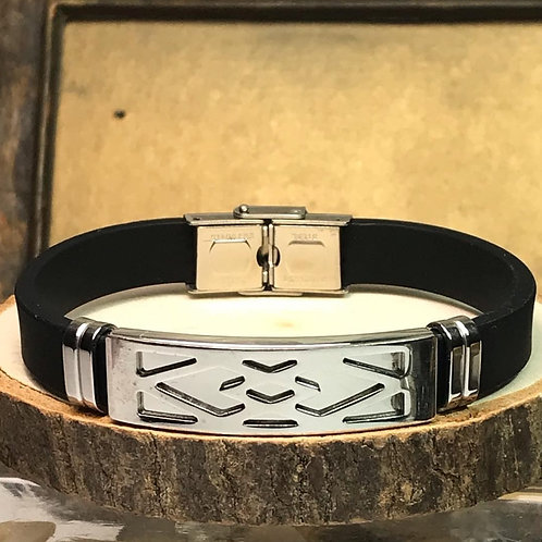 Silicon & Leather Bracelet