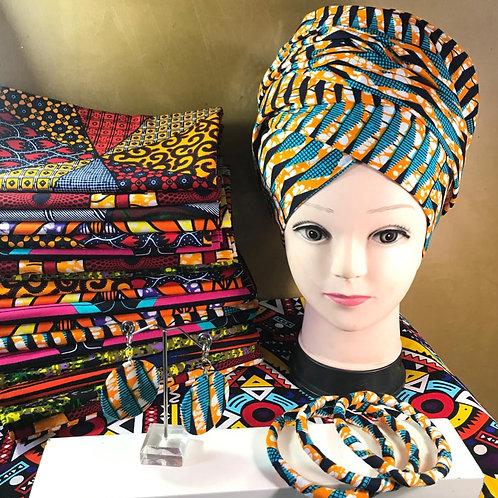 Headwrap, Bangle, & Earring Set