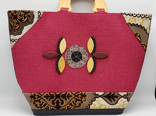 Fuschia Pink Jute Bag