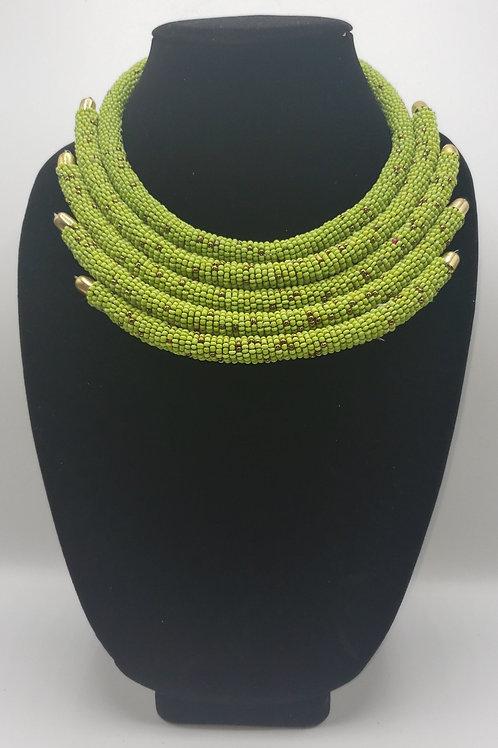 Neon Green & Gold Choker