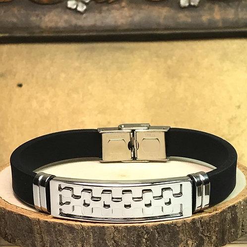 Silicon & Leather Bracelet